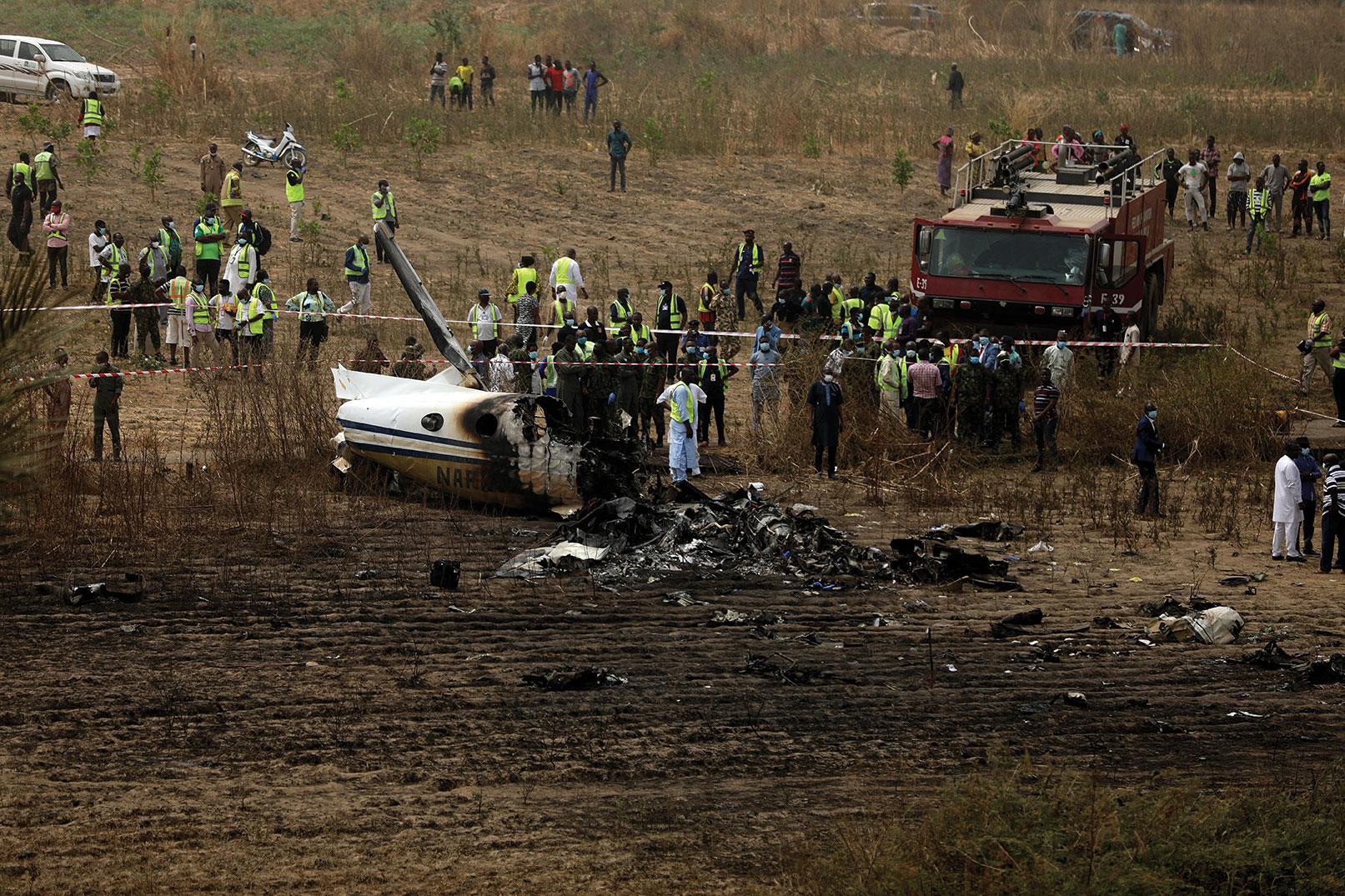 Nigeria: sept morts dans le crash d'un avion militaire