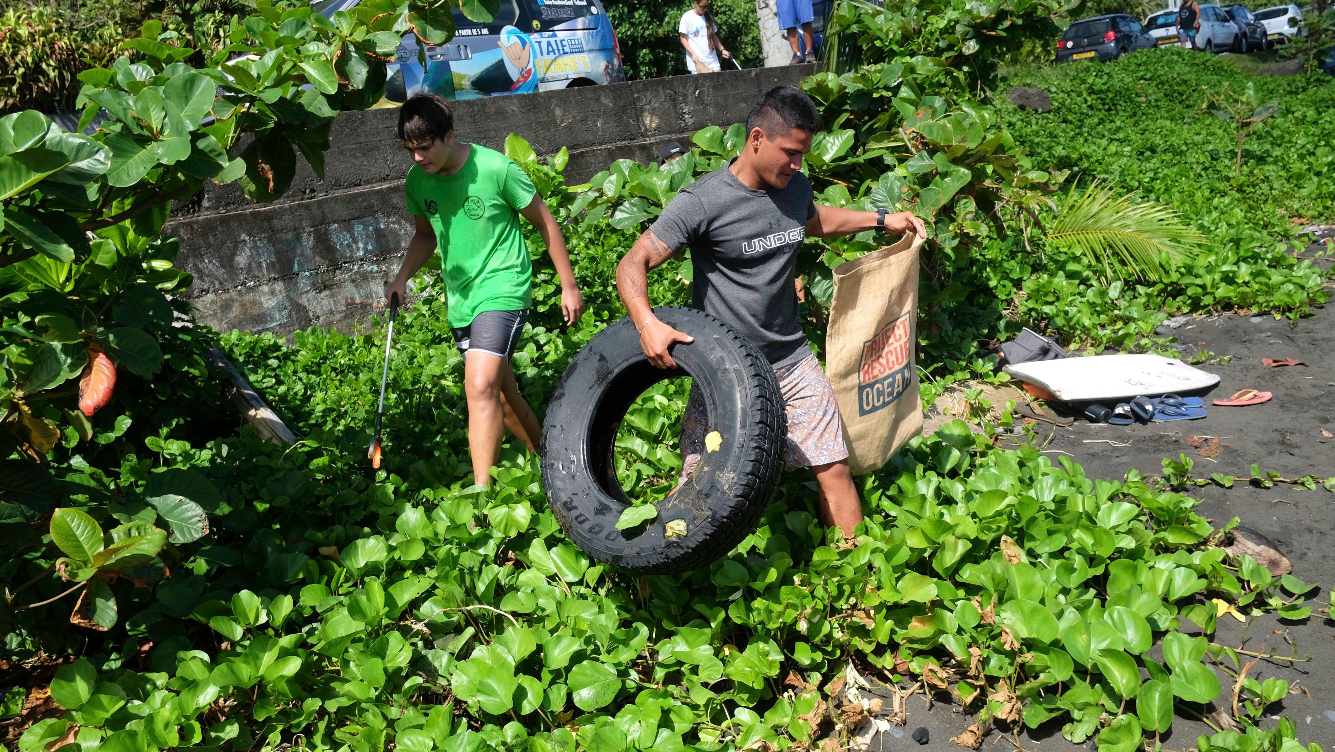 250 kilos de pehu ramassés à Ahonu