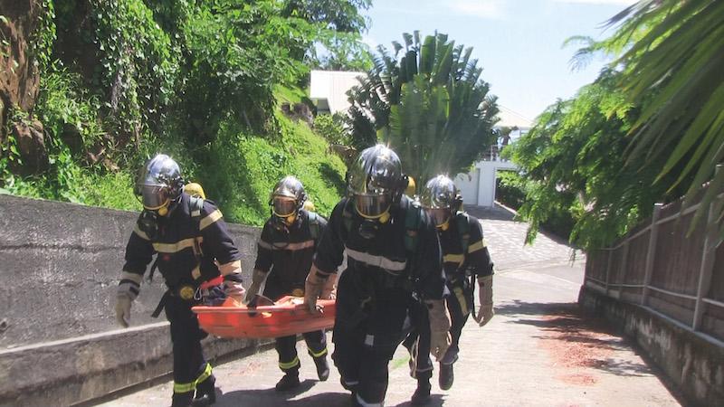 Exercice grandeur nature pour les pompiers de Raiatea