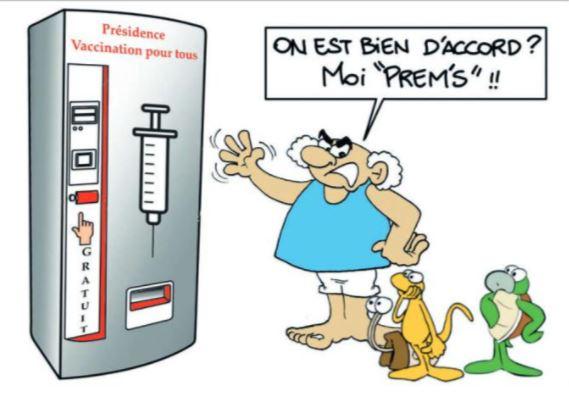 """""""Vaccination gratuite pour tous"""" par MUNOZ"""