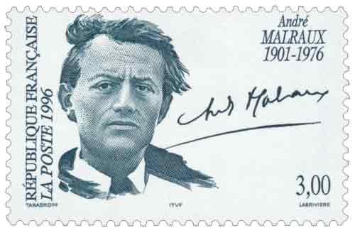 Pas trop regardante sur le passé plus que douteux d'André Malraux, la poste française lui a consacré un timbre en 1996, à l'occasion du vingtième anniversaire de sa mort. Il avait tenté de piller le temple de Banteay Srei pour de l'argent, mais quand l'Histoire veut fermer les yeux, elle sait gommer certaines aspérités...