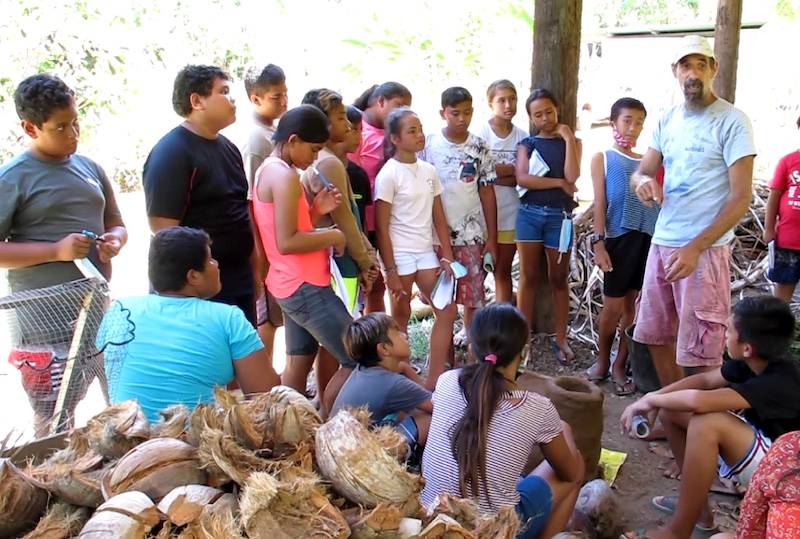 Des graines d'agriculteurs au collège de Nuku Hiva