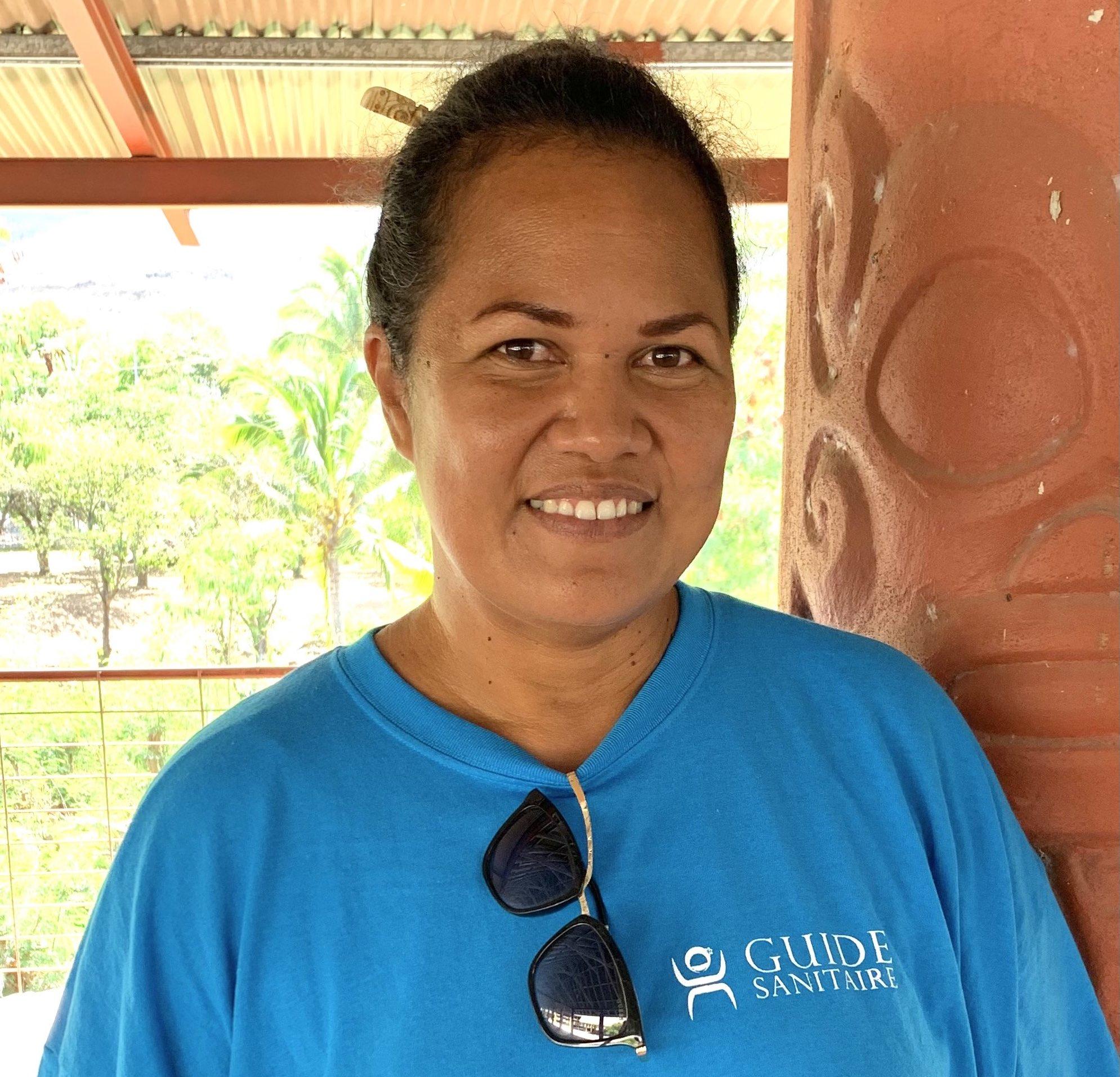Myriam Fiu, présidente de l'association Te pootu no Ua Pou