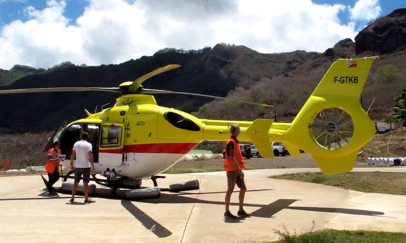 Les deux hélicoptères de Tahiti Nui Helicopters sont installés à Nuku Hiva depuis huit mois. C'est le premier audit sur l'archipel.