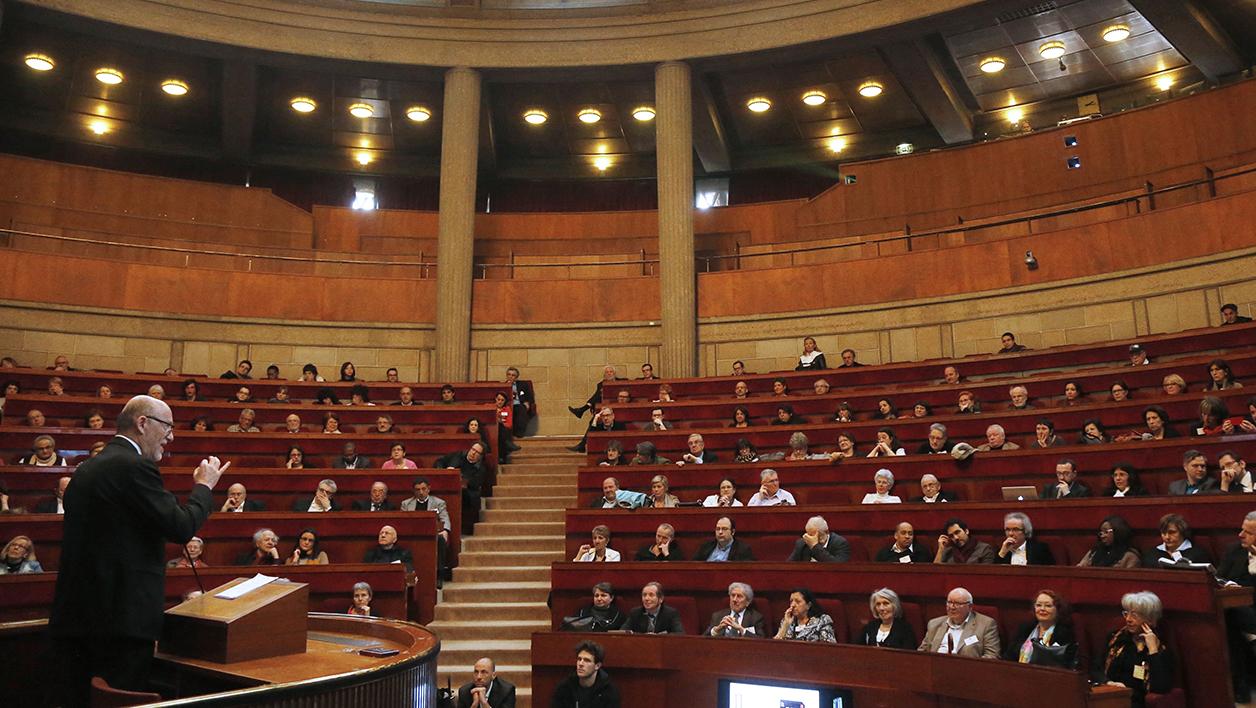 L'hémicycle du Conseil économique, social et environnemental (Cese) au Palais d'Iéna à Paris, 16e. (Photo AFP).