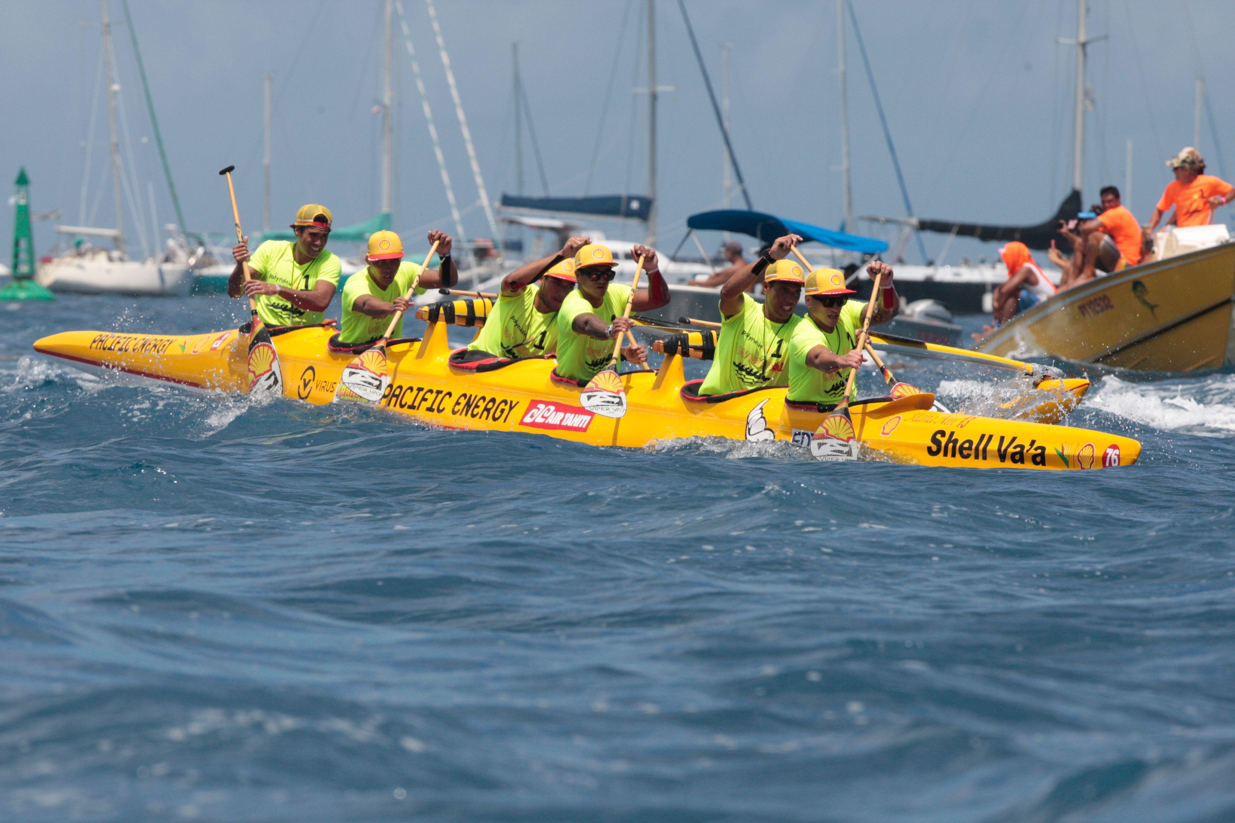 Shell Va'a signe une nouvelle victoire au marathon Polynésie la 1ère