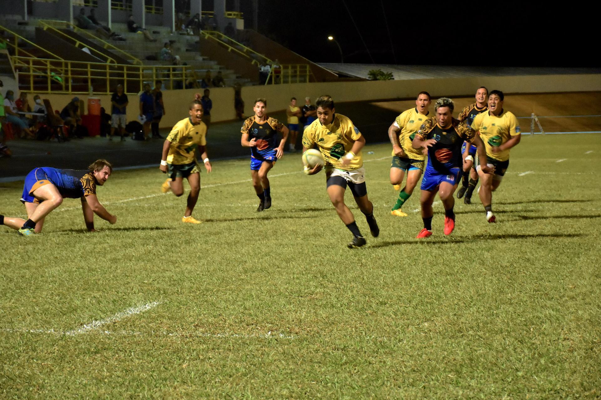 Les joueurs de Faa'a ont imposé un rythme très soutenu tout au long de la partie.