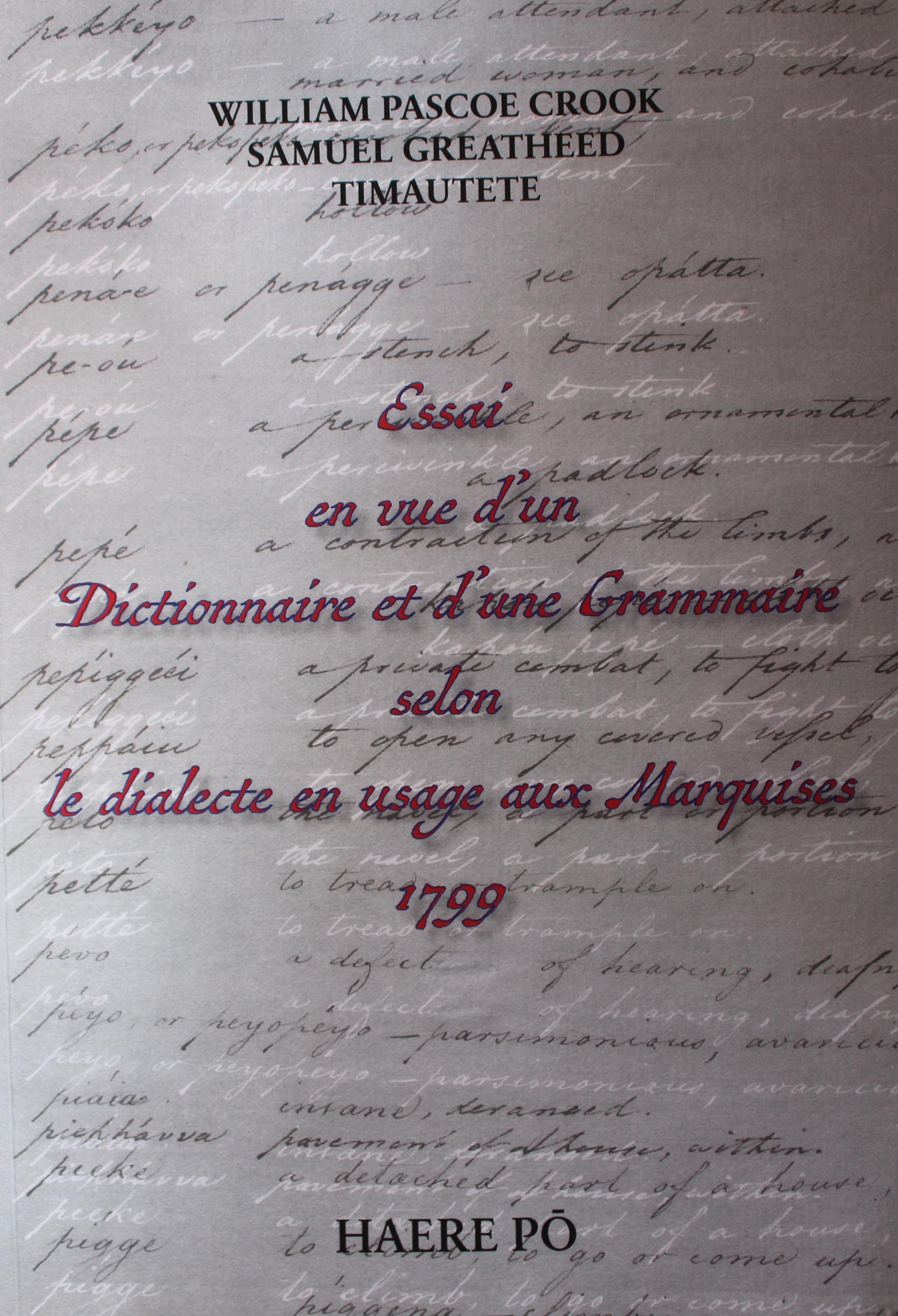 Un dictionnaire marquisien du XVIIIe siècle édité par Haere Pō