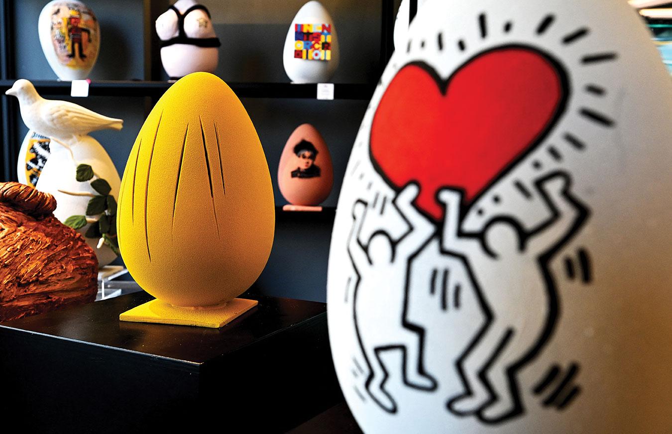 A Rome, le traditionnel oeuf de Pâques se sublime en oeuvre d'art