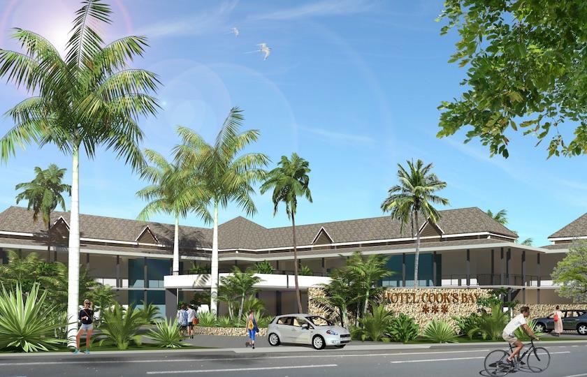 Vue de l'entrée du futur hôtel (image de synthèse)
