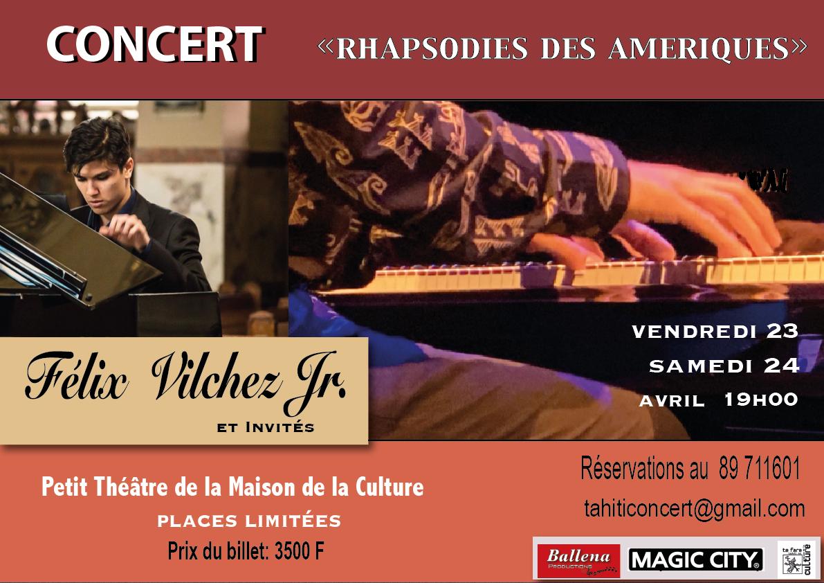 """Terahiti Vilchez présente """"Rhapsodie des Amériques"""""""
