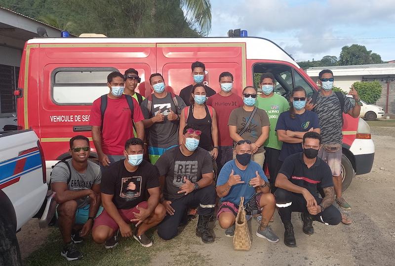 Les nouveaux pompiers de Bora Bora formés et motivés