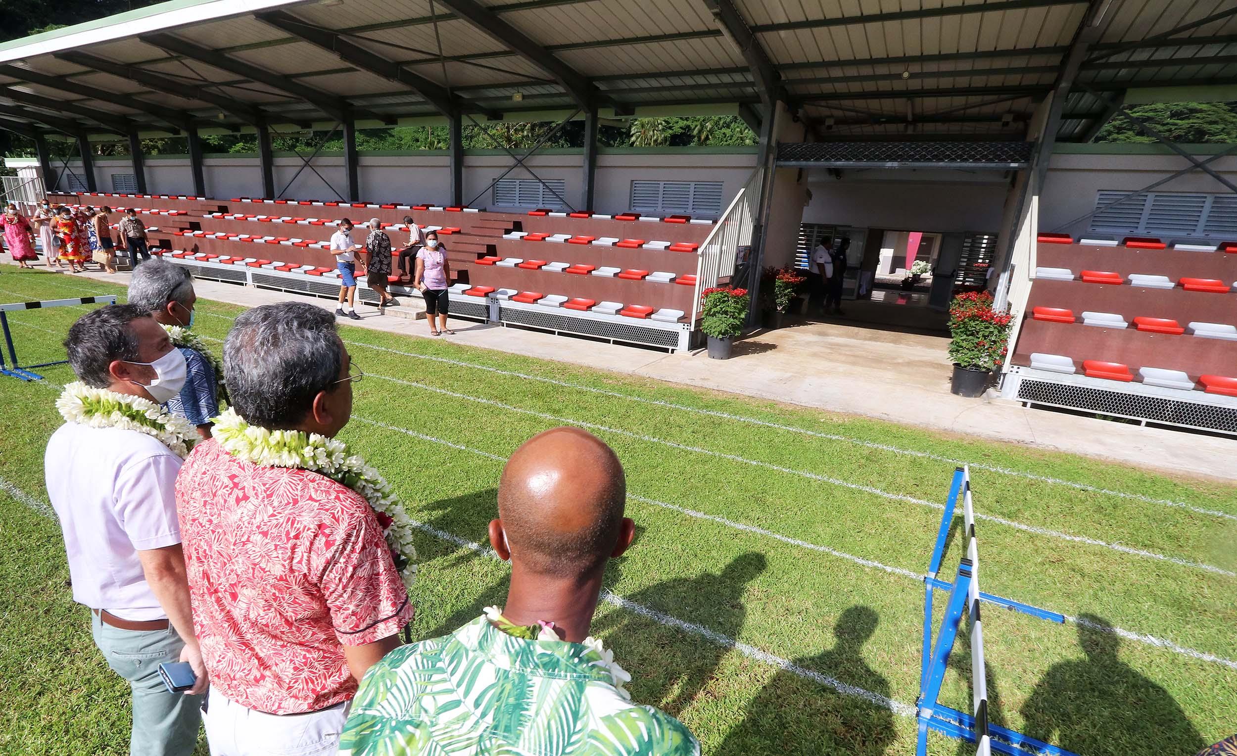 Inauguration du complexe sportif de Hitia'a