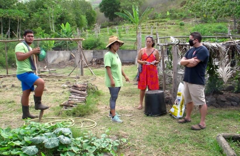Les visiteurs ont pu découvrir l'exploitation agricole éducative du lycée.
