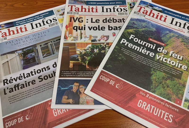 Tahiti Infos de nouveau habilité à diffuser les annonces légales