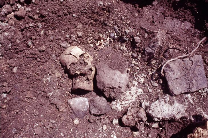 Conservés à la Direction de la culture et du patrimoine (DCP), les ossements ont été ré-inhumés sur le site en 2018.