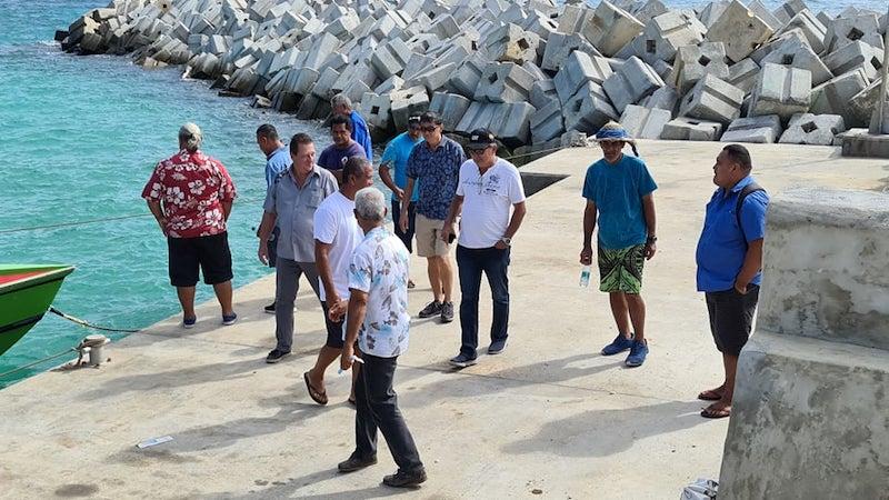 René Temeharo en visite de chantiers à Rimatara