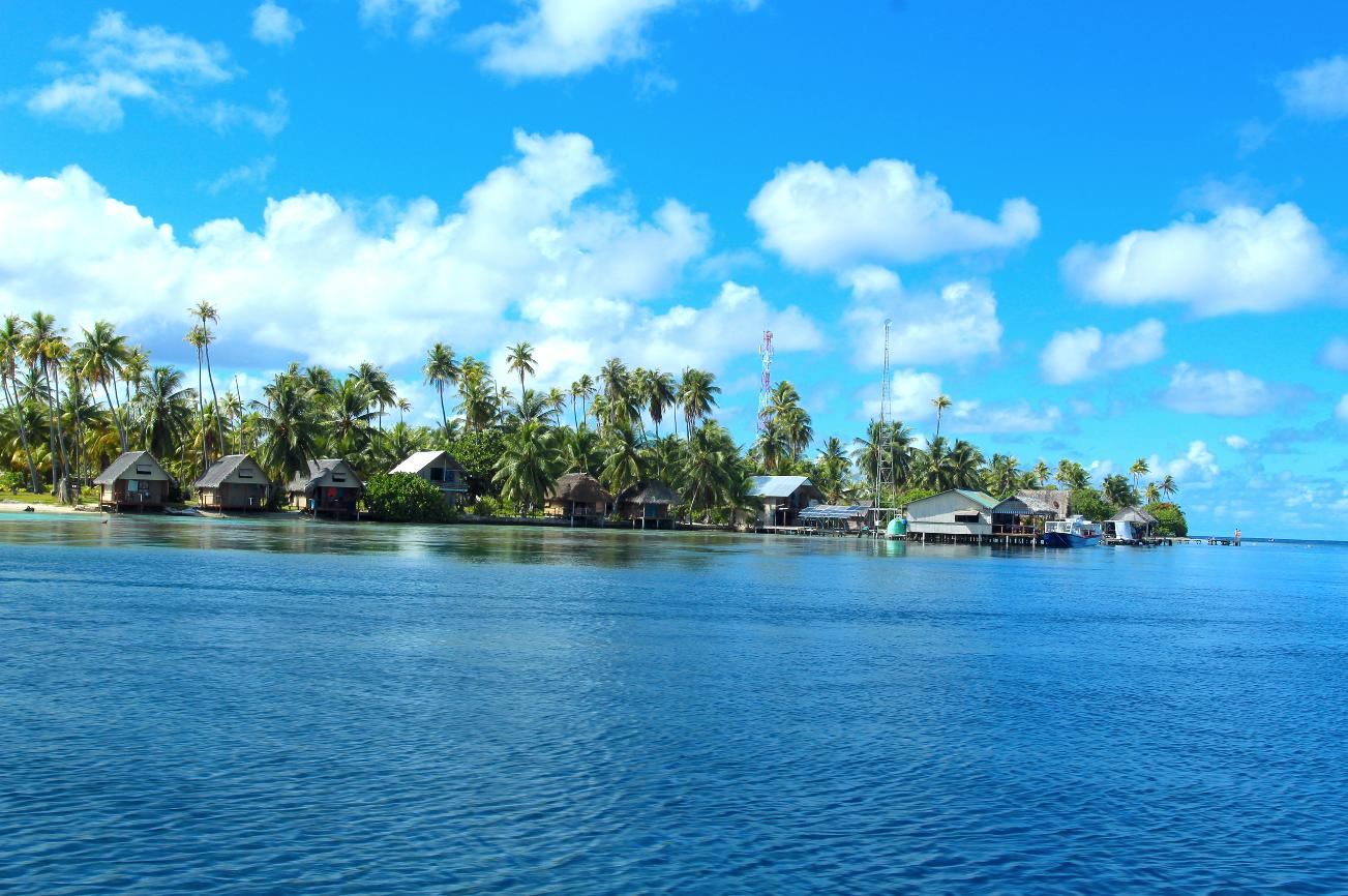 L'arrivée à Tetamanu, à la pointe sud de Fakarava. En quelques années, le spot a acquis une réputation mondiale pour les adeptes de la plongée sous-marine.