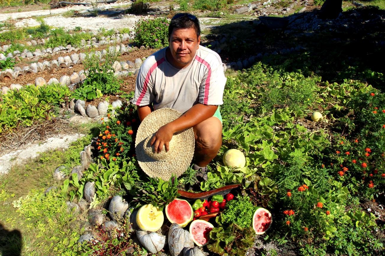 Tehei Asine a non seulement les mains vertes, mais également des diplômes ; il est aujourd'hui un maraîcher apprécié de ses clients. Il se lance actuellement dans l'agroforesterie.
