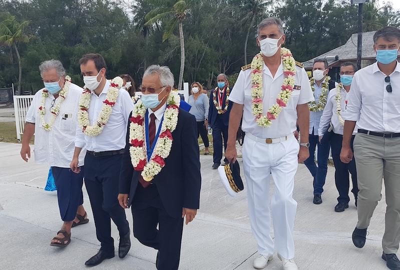 Arrivée de Sébastien Lecornu à Bora Bora