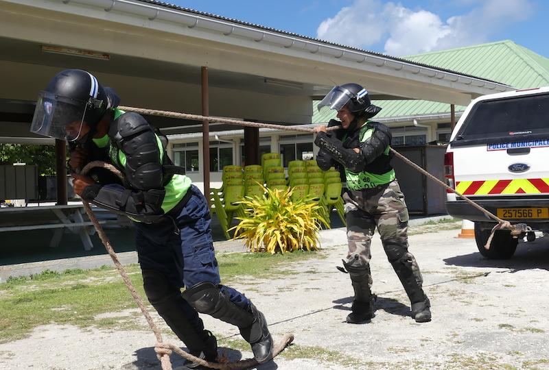 La journée de cohésion consistait à des mises en situation réelle associées à des épreuves sportives.