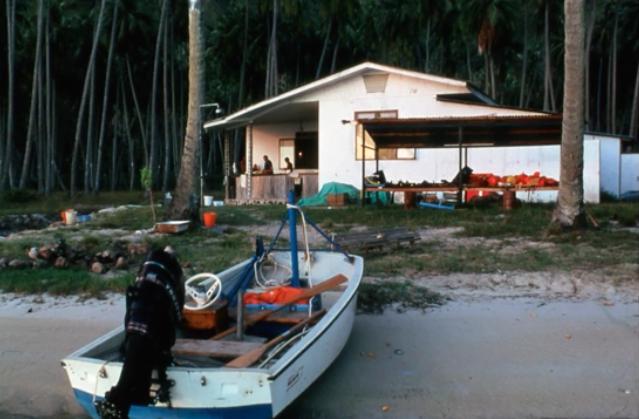 En 1971, l'antenne du Muséum-EPHE s'implante sur le site de Tiahura.