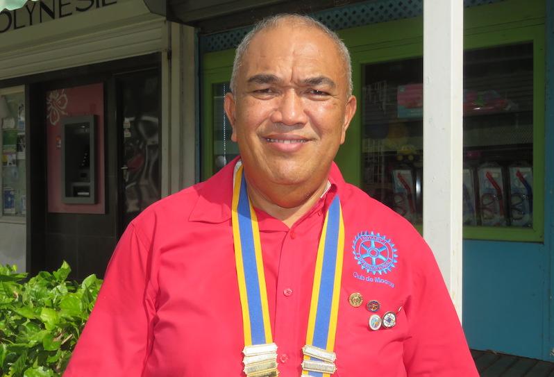Georges Nahei, nouveau président du Rotary Club de Moorea