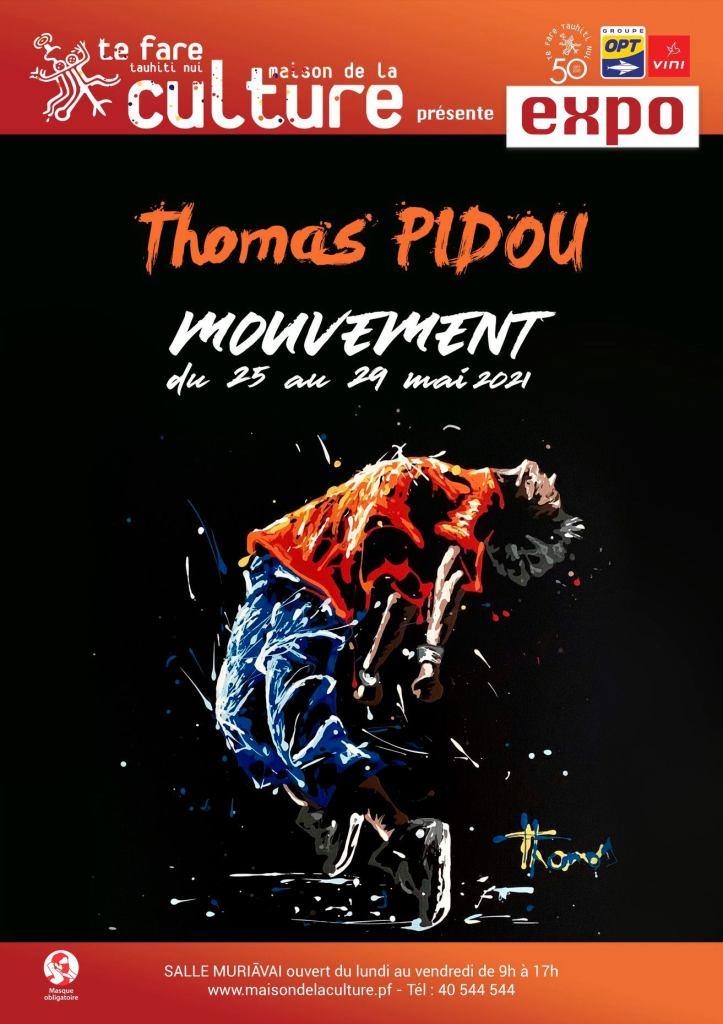 Thomas Pidou, adepte du Dripping, expose salle Muriāvai