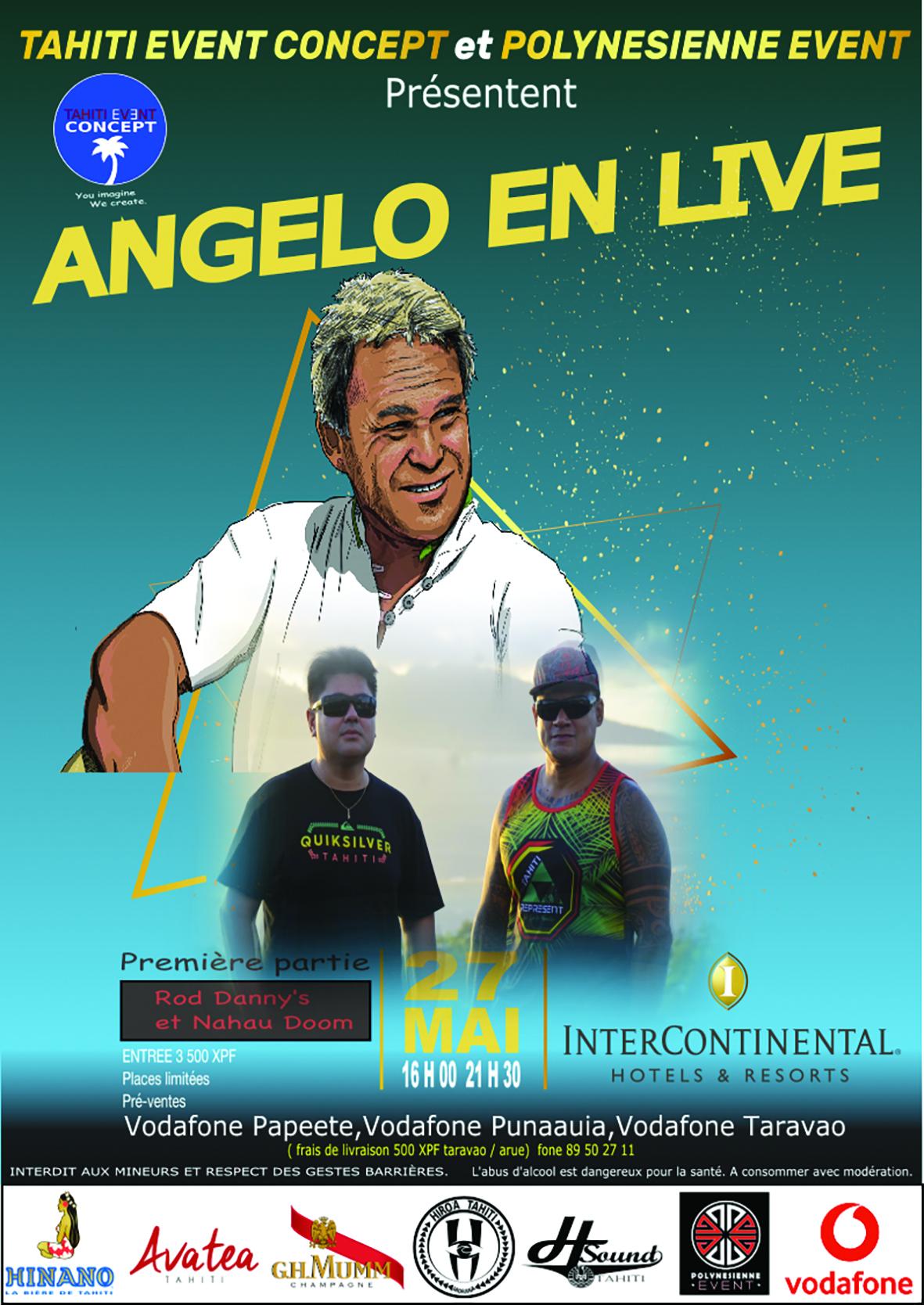 Angelo en live, c'est demain soir !