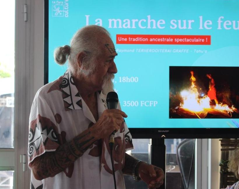 Raymond Graffe, organisateur de la marche sur le feu.