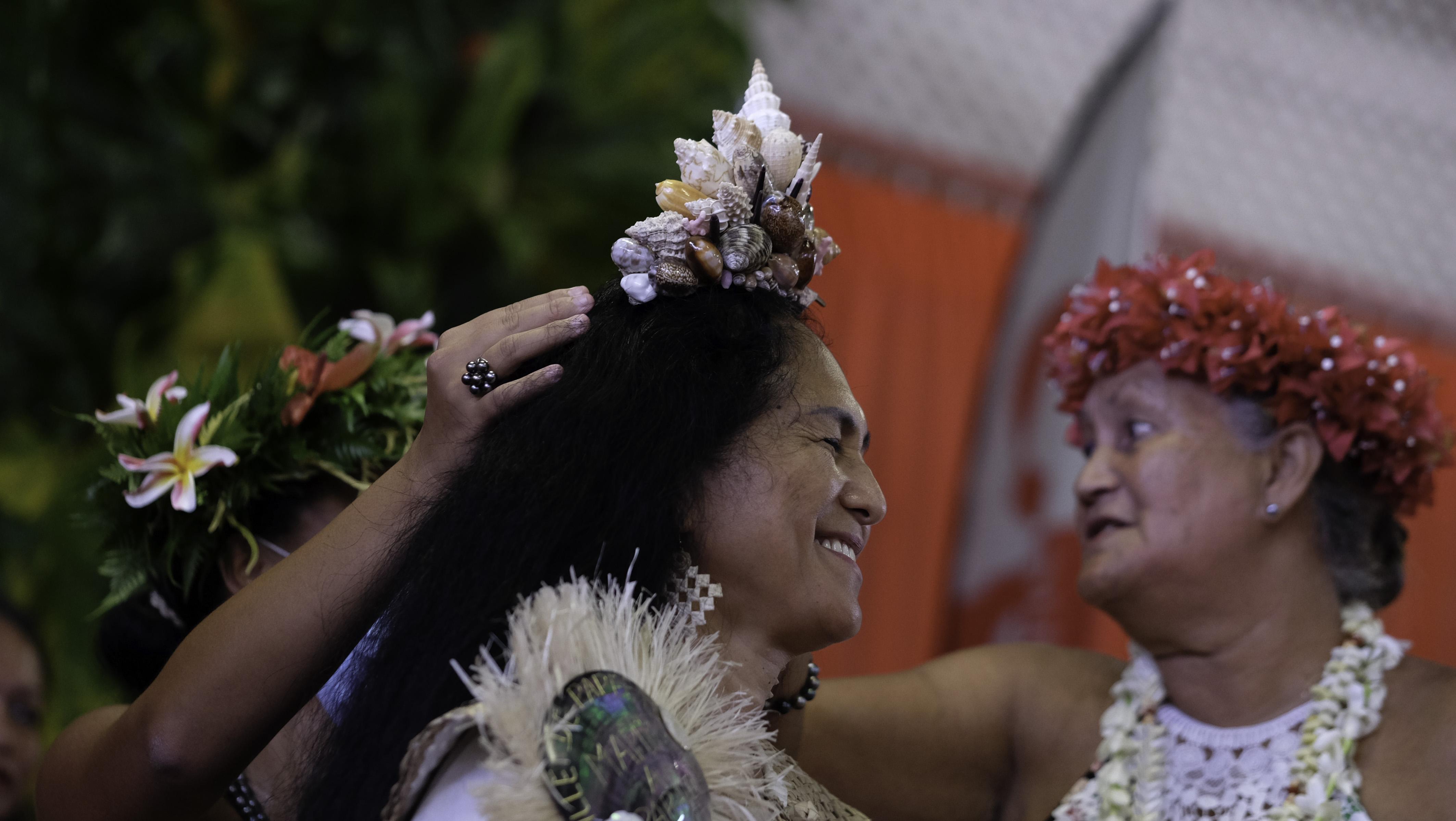 Le couronnement de la Vahine nō te Mātete 2021.