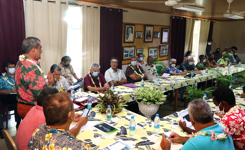 Réunion JO entre le Pays et les élus de Taiarapu-Ouest