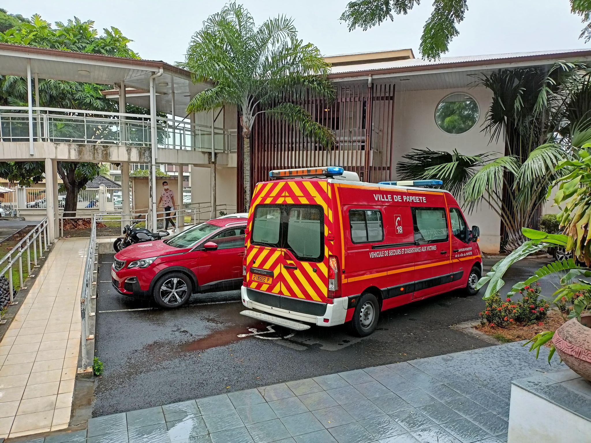 Les pompiers ont pris en charge le magistrat © Valentin Guelet