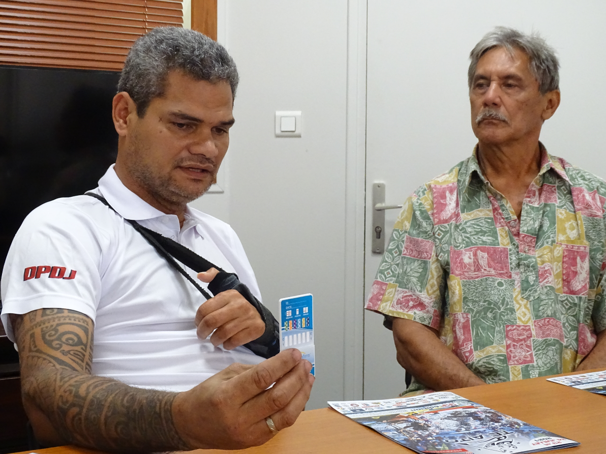 Teiva Manutahi et Charley Maitere ont organisé une conférence de presse mercredi matin à la DPDJ.