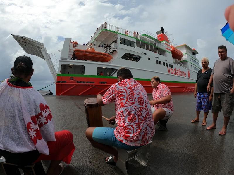 Le Terevau Piti en voyage inaugural aux Raromatai