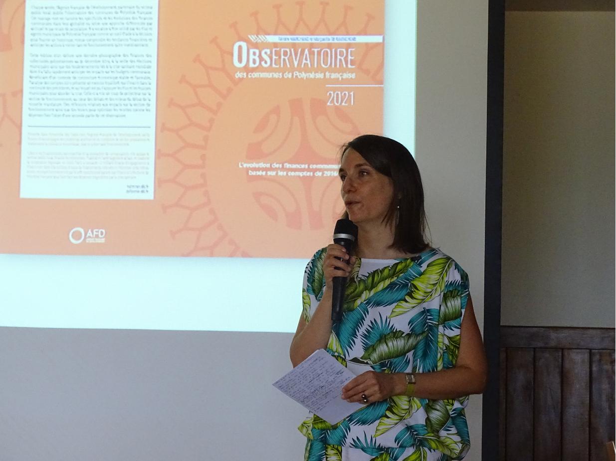 Céline Gilquin, la directrice de l'AFD en Polynésie française.