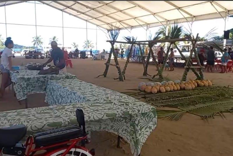 Les exposants étaient rassemblés place Tuvavau à Bora Bora.
