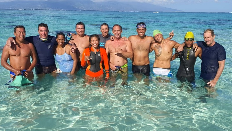 Tahiti-Moorea à la nage : défi réussi