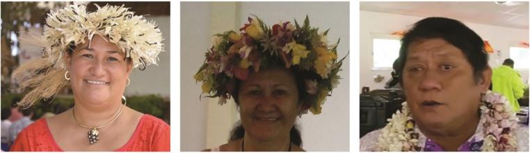 Sylviane Terooatea, Moeani Mou Kam Tse épouse Amaru et Rudolph Tchong Fong.