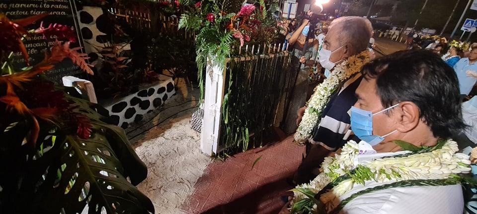 """Comme chaque année, les souverainistes se sont rassemblés du côté de la stèle Tavararo à Faa'a, autour d'Oscar Temaru, pour se désoler de la date de l'annexion """"officielle"""" de la Polynésie à la France le 29 juin 1880."""