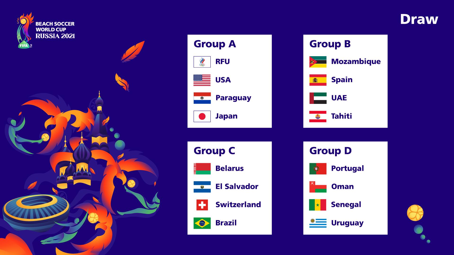 Les Tiki Toa avec l'Espagne, les Emirats Arabes Unis et le Mozambique