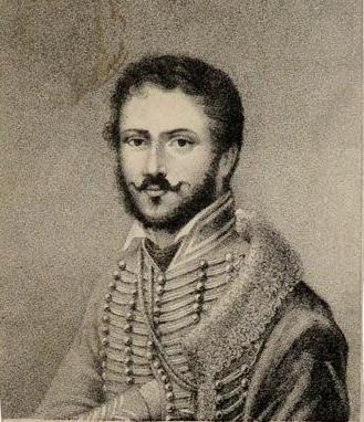 Difficile de trouver des portraits de Domeny de Rienzi. On connaît celui-ci, probablement lorsqu'il était en campagne dans l'armée napoléonienne.
