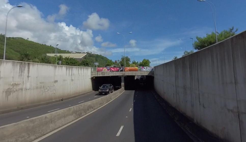 Circulation réduite au tunnel de Punaauia