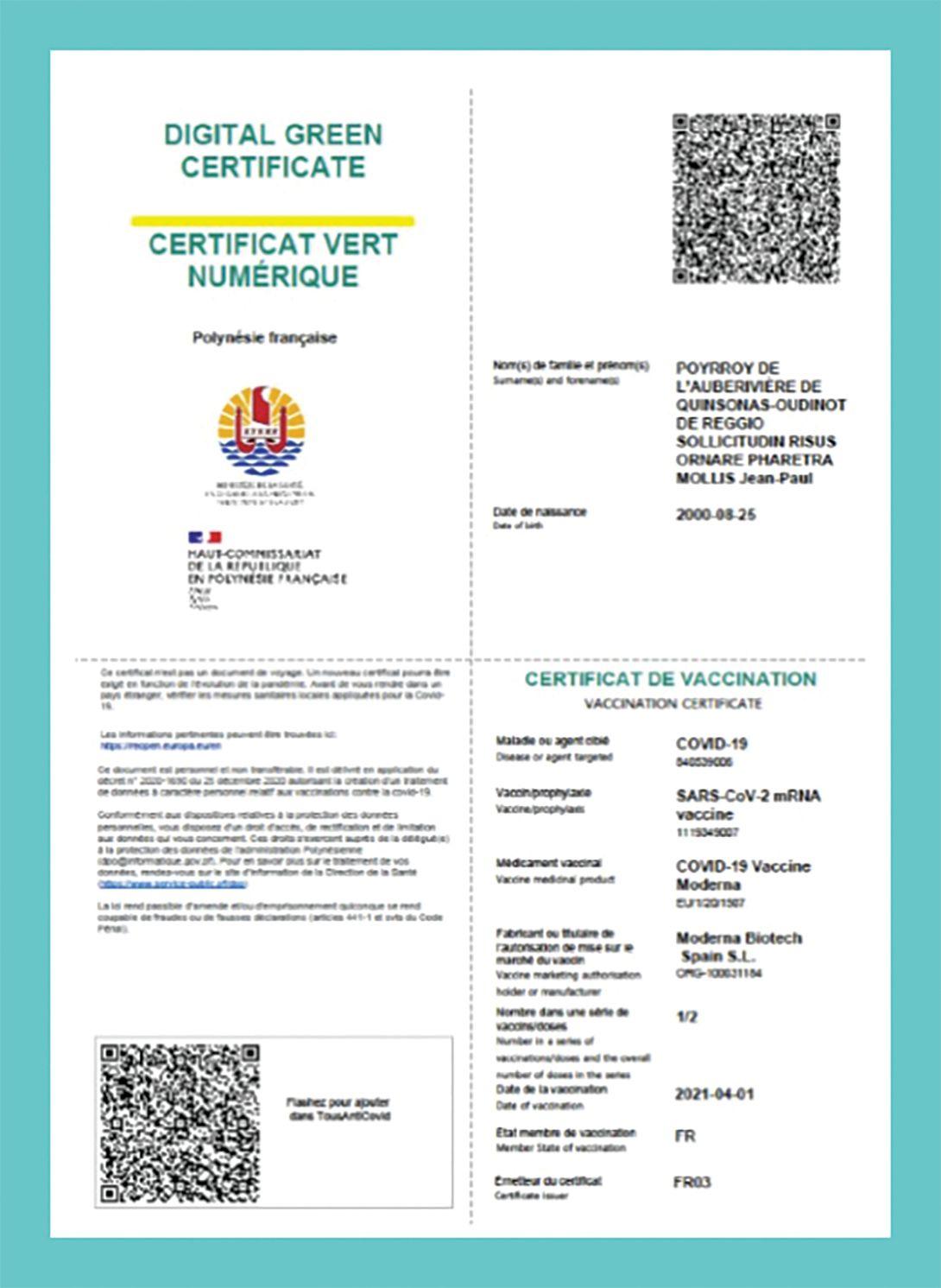#TousAntiCovid : le QR code opérationnel dès aujourd'hui en Polynésie