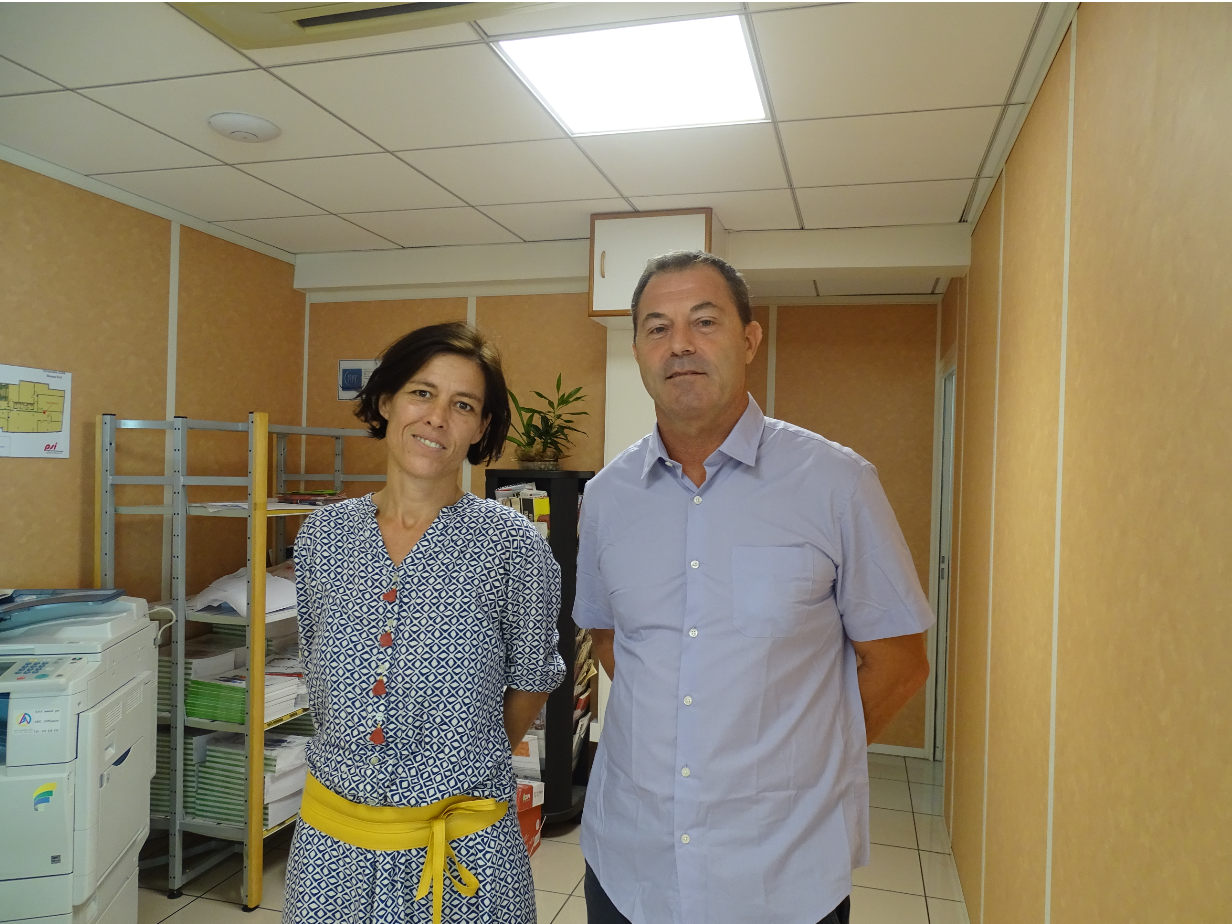 Emmanuelle Thénot (directrice adjointe) et Olivier Solari sont à la tête de l'AADDTPF.