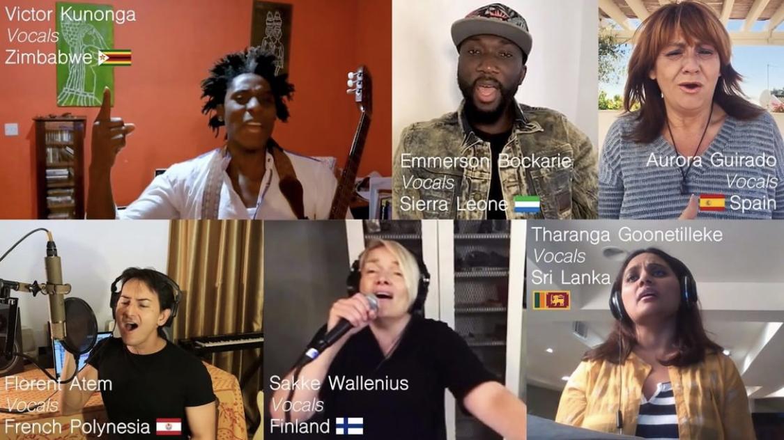 Florent Atem chante au profit de l'Unicef