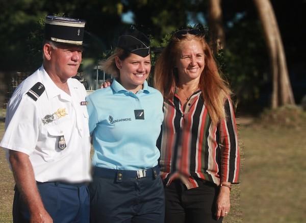 Maimiti Hiro, fille de Raiatea, a la gendarmerie dans le sang