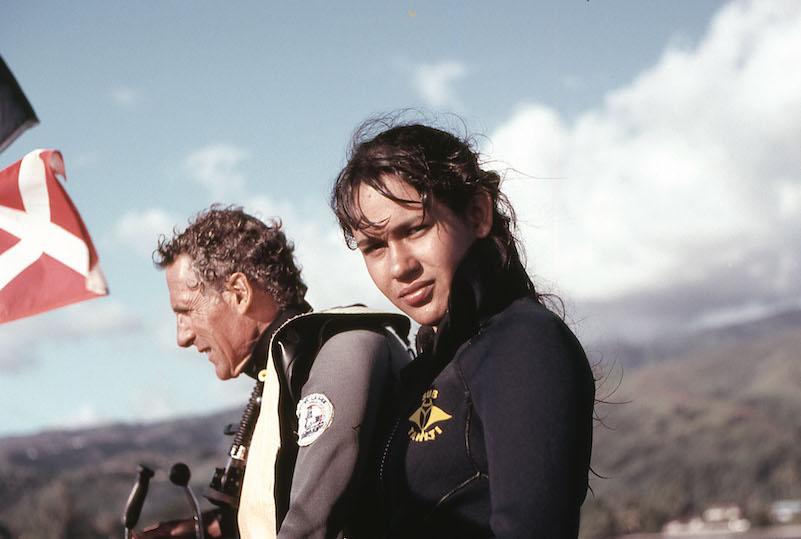 Jean-François Chazottes et sa fille Valérie en 1988. (© Collection Valérie Louvat-Chazottes)