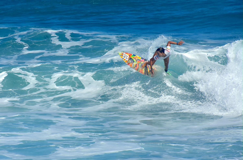 Heimiti Fierro a succédé à sa grande soeur Vahine qui s'était imposée l'année dernière à la Reef Vahine Cup.