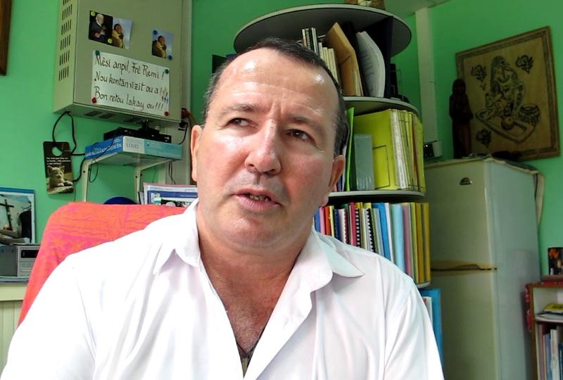 Frère Rémy Quinton, directeur du lycée agricole.